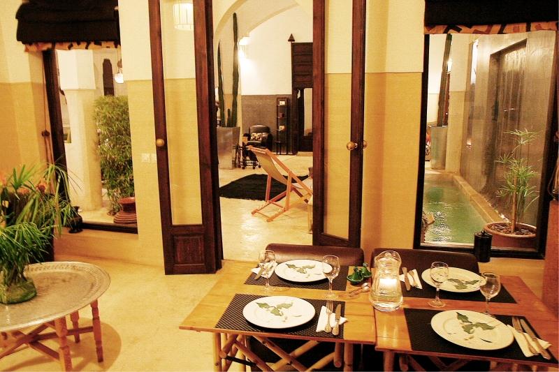 Riad massai marrakech - Salle a manger marocaine ...